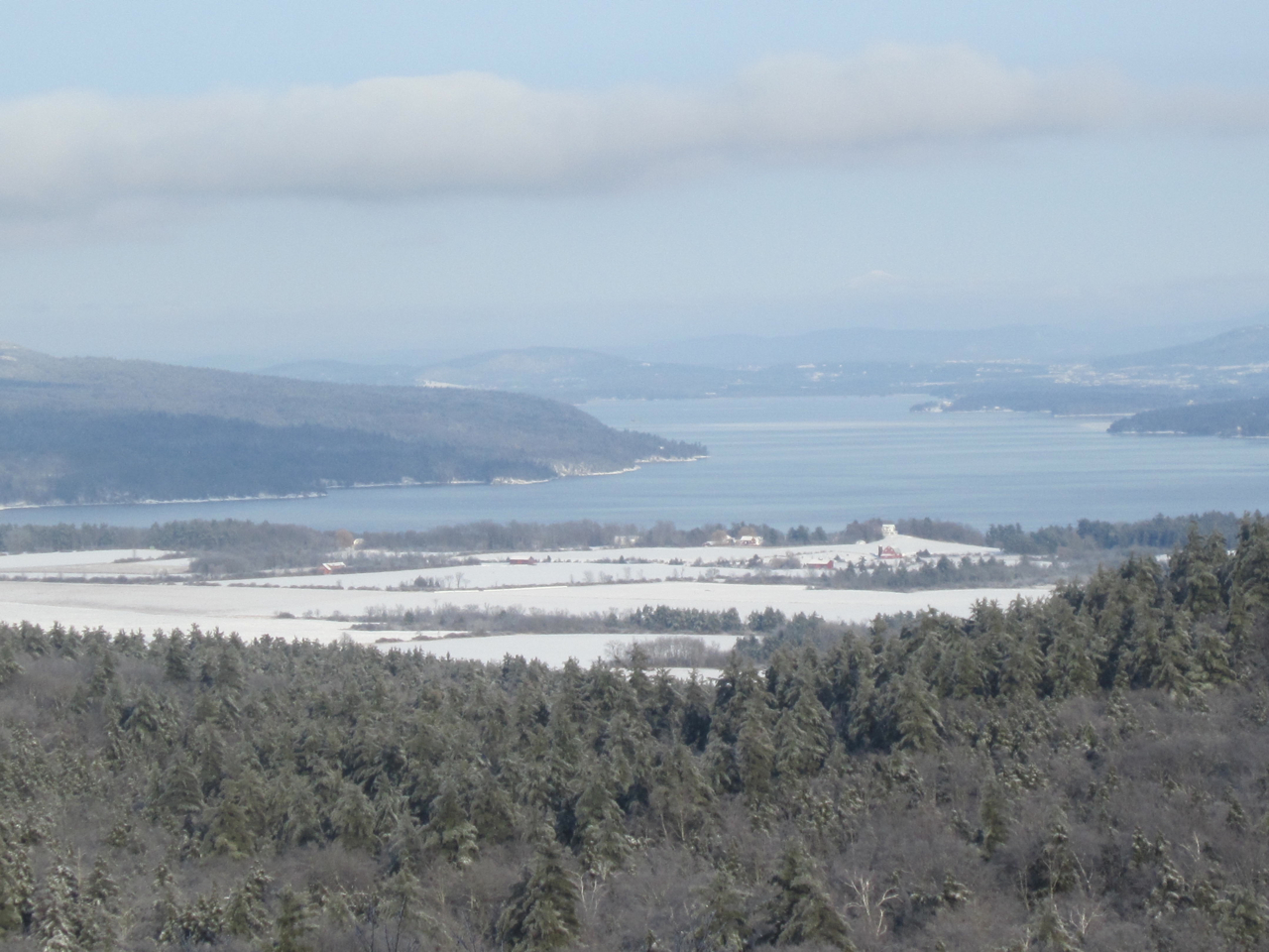 Looking north from Pinnacle on Christmas Day